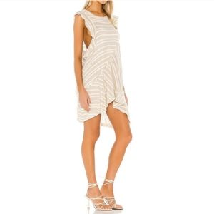 Free People   Between the Lines Tan Stripe Tunic S